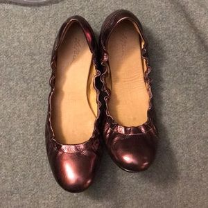 Shiny and fun purple ballet flats -size 7 1/2 M